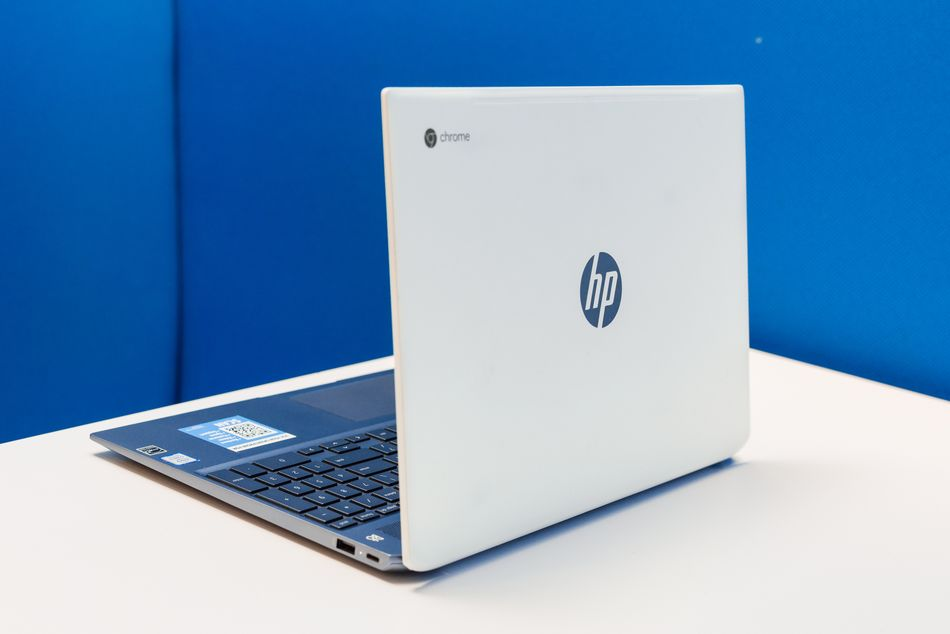 HP's Chromebook looks futuristic.