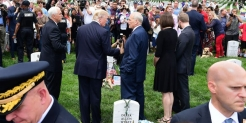 'I was instantly furious': Marine veteran and Gold Star widow blasts Trump after seeing photo of him at her husband's grave in Arlington
