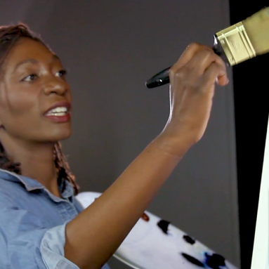 Comedian Keisha Zollar adds the perfect 'twist' to a calm Bob Ross landscape — The Bob Ross Challenge