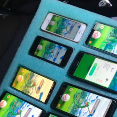 Driver gets caught pulled over on the highway with 8 phones running 'Pokémon Go'