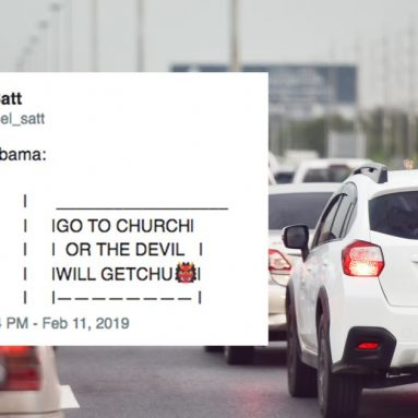 The 'driving in' meme makes fun of your state's wildest billboards