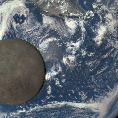 The moon has been drifting away from Earth for 4.5 billion years. A stunning animation shows how far it has gone.