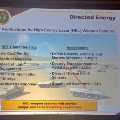 US Army Approves Plans for Microwave, Laser and Hypersonic Weapons
