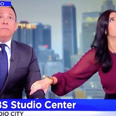 Videos capture the terrifying moment sports games and live newscasts abruptly stop during the 7.1 magnitude earthquake in California