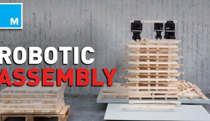 Watch a swarm of robots build a timber tower from scratch